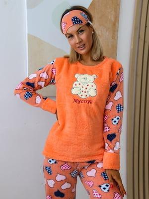 Пижама: джемпер, брюки и маска для сна | 5564989
