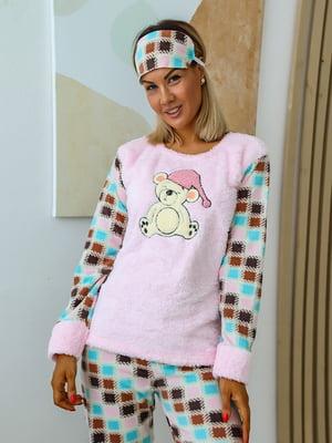 Пижама: джемпер, брюки и маска для сна | 5564992