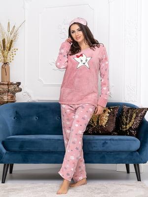 Пижама: джемпер, брюки и маска для сна | 5564993