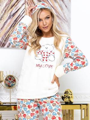 Пижама: джемпер, брюки и маска для сна | 5564994