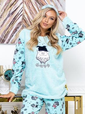 Пижама: джемпер, брюки и маска для сна | 5564995