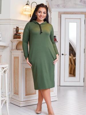 Сукня кольору хакі | 5564328