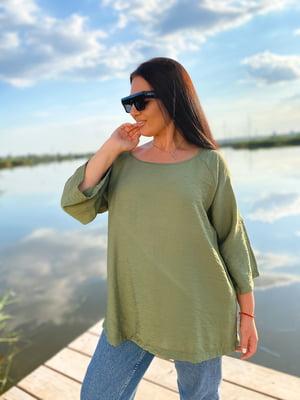 Блуза цвета хаки | 5564475