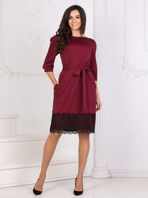 Сукня кольору марсала | 5564584