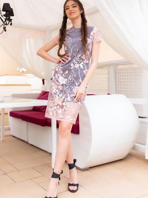 Сукня сіро-рожева | 5564592