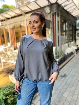 Блуза графитового цвета | 5564701