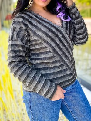 Пуловер в смужку | 5564732