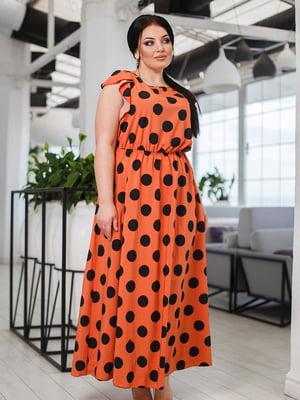 Платье терракотовое в горох   5564768