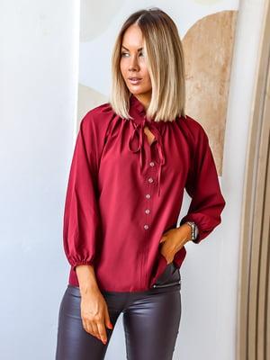 Блуза бордовая | 5564851