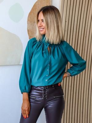 Блуза бирюзовая | 5564854