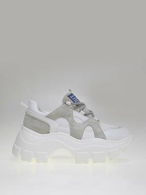 Кроссовки бело-серые | 5563622