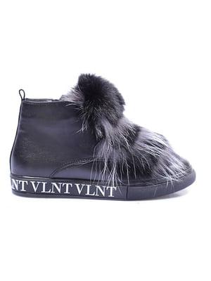Ботинки черные с логотипом   5563705