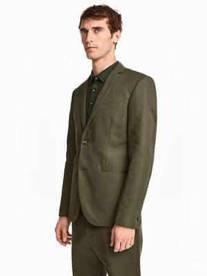 Піджак кольору хакі | 5565930