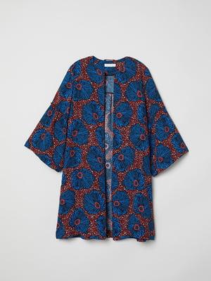 Накидка синя з принтом | 5565951