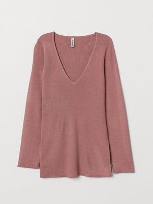 Пуловер розовый   5566558