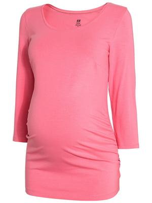 Лонгслив для беременных розовый | 5566781