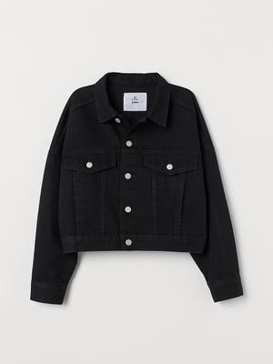 Куртка черная джинсовая | 5566821