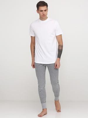 Брюки пижамные серые | 5566887