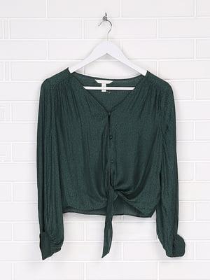 Рубашка для кормящих мам темно-зеленая | 5566901