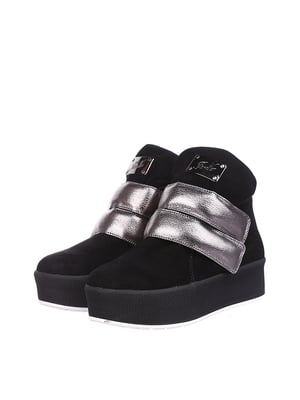 Ботинки черно-стального цвета | 5489844