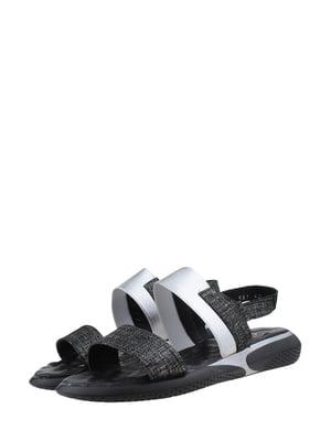 Сандалии черно-серебристого цвета | 5527811