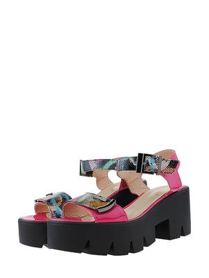 Босоніжки рожеві з принтом | 5531926