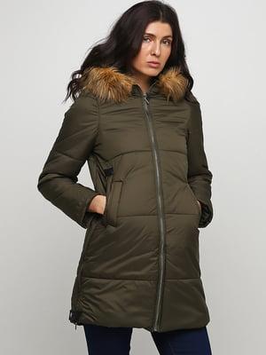 Пальто кольору хакі | 5567182