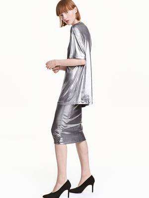 Спідниця сріблястого кольору | 5567602