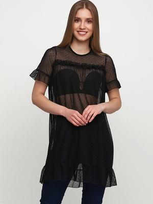 Сукня-туніка чорна в цяточку   5567820