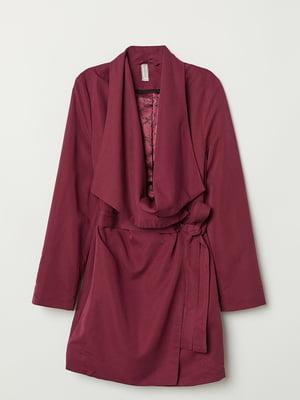 Пальто бордовое | 5567898