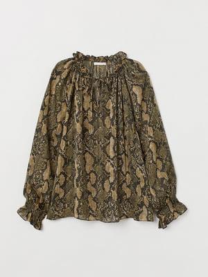 Блуза в анималистический принт | 5568040