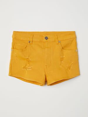 Шорты джинсовые желтые | 5568100