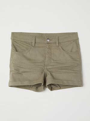 Шорти джинсові кольору хакі | 5568112