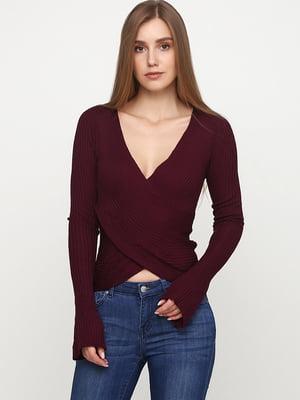 Пуловер баклажанного цвета   5568119