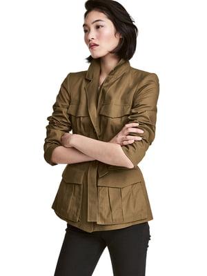 Куртка кольору хакі | 5568533