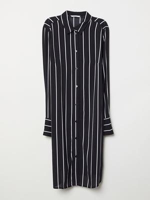 Платье для беременных черное в полоску | 5568796