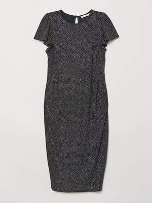 Платье для беременных черное с блестками | 5568797