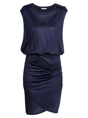 Платье для кормящих мам синее | 5568827