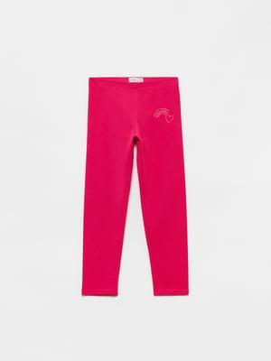 Легінси рожеві з малюнком | 5536467