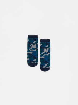 Шкарпетки сині в камуфляжний принт | 5561596