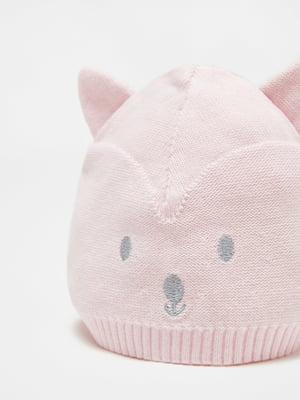 Шапка розовая с рисунком | 5561611