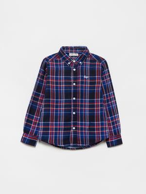 Рубашка синяя в клетку | 5561636