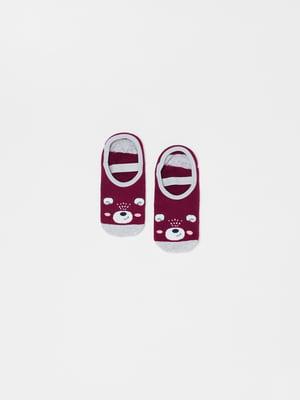 Носки серо-фиолетовые в принт | 5561741