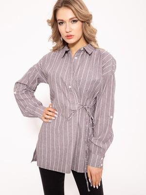 Блуза серая в полоску | 5568975