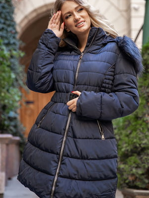 Пальто синее   5569033