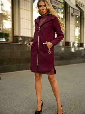 Пальто сливового цвета   5569043