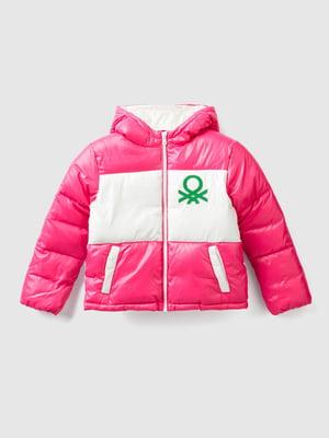 Куртка розовая с принтом | 5569172