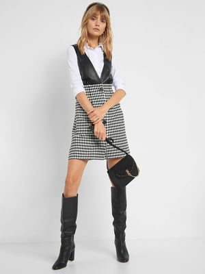 Платье черно-белое в «гусиную лапку»   5569569