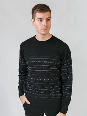 Джемпер черный с орнаментом   5559534