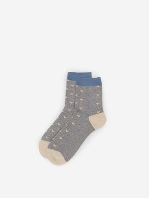 Носки серые в принт | 5570079
